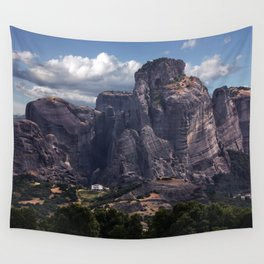 Postcards from Meteora Wall Tapestry