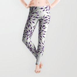 Purple Peppers Mandala Art Leggings