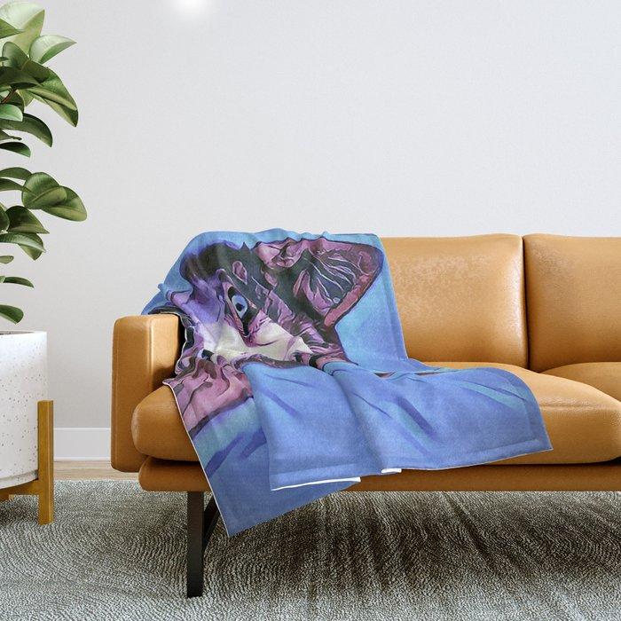The Siberian Malamute Throw Blanket