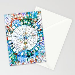 Glass stain mosaic 5 - circle Stationery Cards