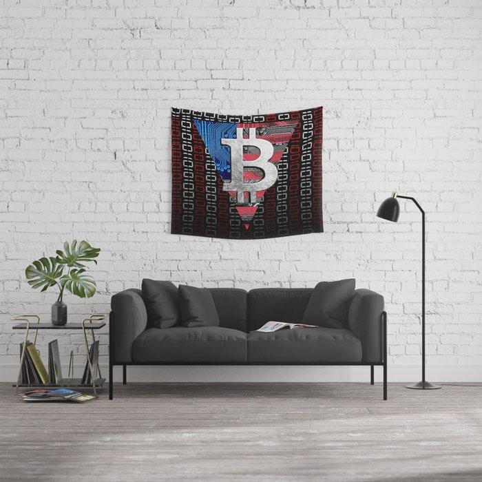 bitcoin USA  Wall Tapestry