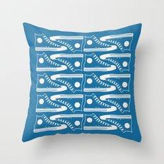 The Con Artist (Blue) Throw Pillow