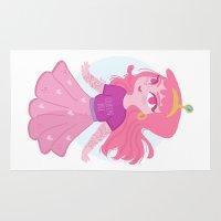 princess bubblegum Area & Throw Rugs featuring Bubblegum by Pilotinta