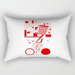 Bicycle I. Rectangular Pillow