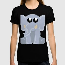 Cute Sitting Elephant Cartoon T-shirt