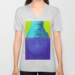 Upside Down Unisex V-Neck