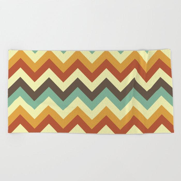 Zigzag Beach Towel