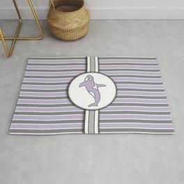 Purple Orca Stripes Pattern Design Rug
