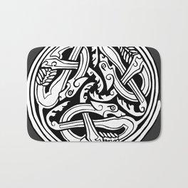 Celtic Art - Dog Triskele - on Grey Bath Mat