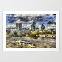 The River Thames And City Art Art Print