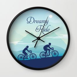 Dreamy Cycle Ride - Best Design Ever Wall Clock