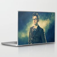 david tennant Laptop & iPad Skins featuring David Tennant - Doctor Who 2 by KanaHyde