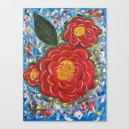 Flores Rojas Canvas Print