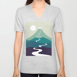 Cat Landscape 80 Unisex V-Neck