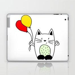 Cat with balloons Laptop & iPad Skin