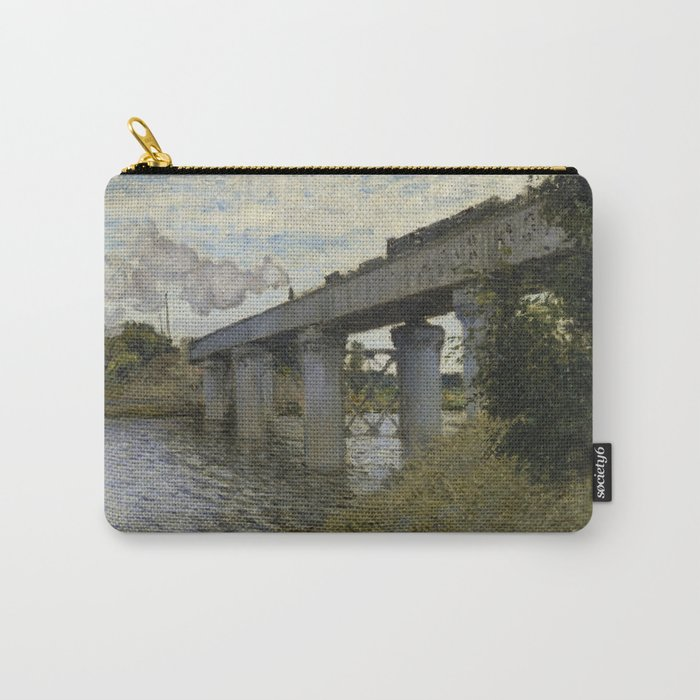 The Railroad bridge in Argenteuil Carry-All Pouch