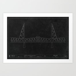 Hawthorne Bridge — Darkprint Art Print