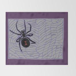 Black Widow (Gothic palette) Throw Blanket