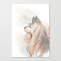 terrier Canvas Prints featuring Terrier by Eviko