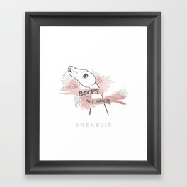 Boops Not Bombs - Snek 2016 Framed Art Print