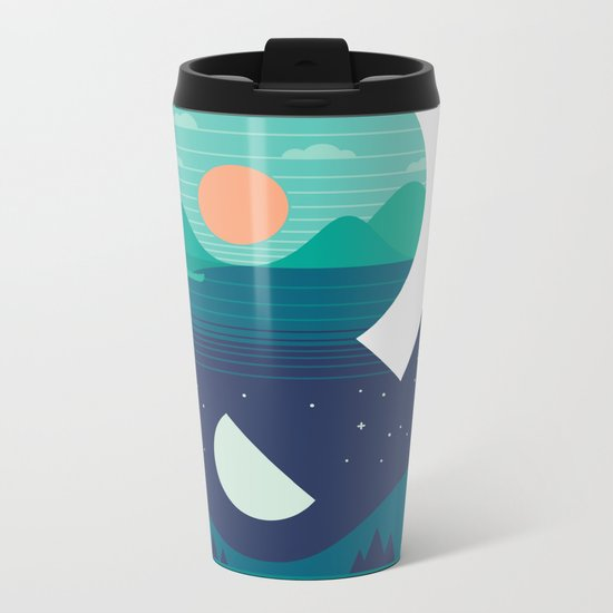 Day & Night Metal Travel Mug