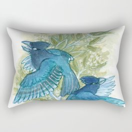 Blue Jays and Tea Olive Plant Rectangular Pillow