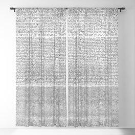 The Rosetta Stone Sheer Curtain