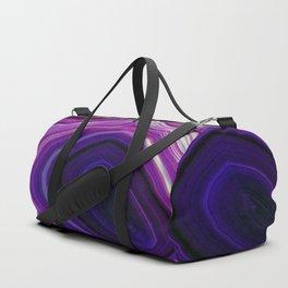 Swirled Purple Geode Duffle Bag