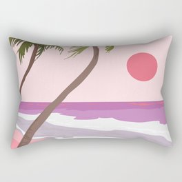 Tropical Landscape 01 Rectangular Pillow