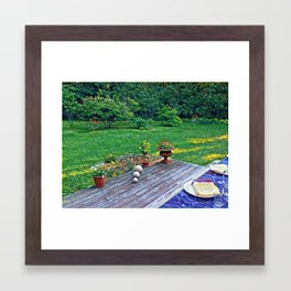 Summer Eve, Small town New England Framed Art Print