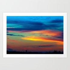 Sunset in Caleidoscope Art Print