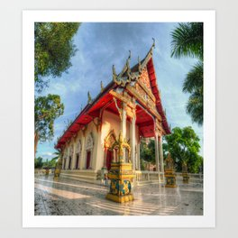 Thai Temple #4 Art Print