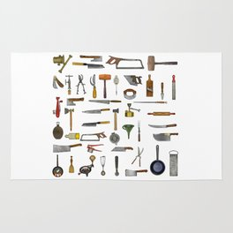 vintage utensils Rug