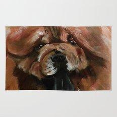 Chow dog portrait Rug