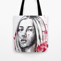 asia Tote Bags featuring asia by Lua Fraga