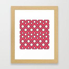 Boho Design Circles In Pink Framed Art Print