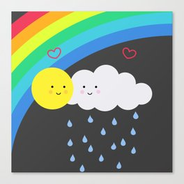 the truth about rainbows Canvas Print