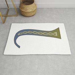 Celtic Knotwork Alphabet - Letter L Rug