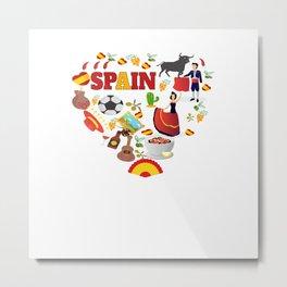 Spain Spanish Gifts Metal Print