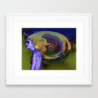 lost in translation Framed Art Prints featuring Lost in Translation  by Procer Khepri