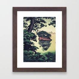 Autumn Rain in Yama Framed Art Print