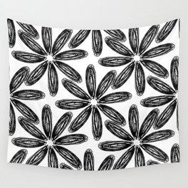 Ballpoint Flower Pattern Wall Tapestry