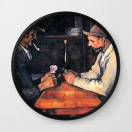 Paul Cézanne - The Card Players Wall Clock