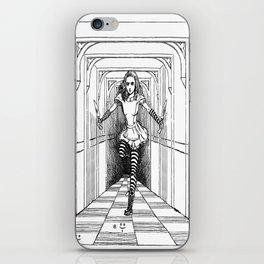 Alice and Flamingo iPhone Skin