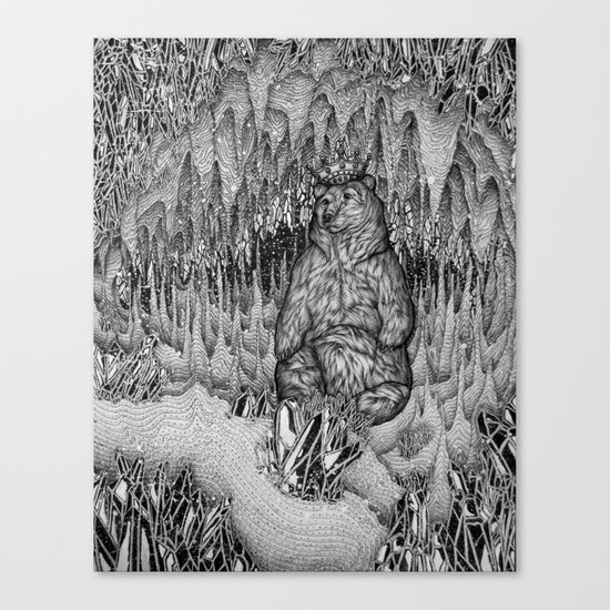 Cave of the Bear King Canvas Print