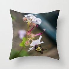Being A Bee Throw Pillow