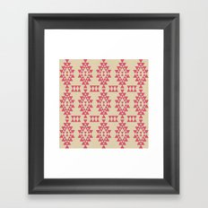 Coral Geo Framed Art Print