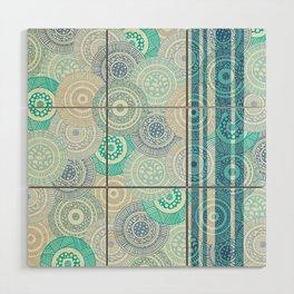 Circles / Stripes Wood Wall Art