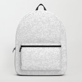 Tiny Spots - White and Pale Gray Backpack