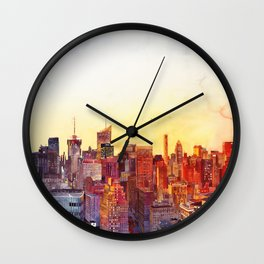Sunshine in NYC Wall Clock